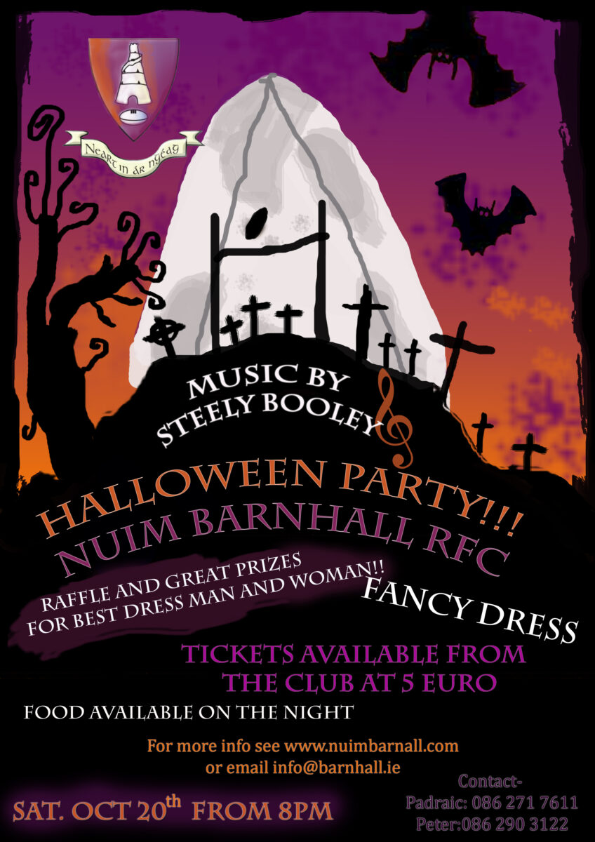 get your best costume ready, the club fancy dress halloween party is