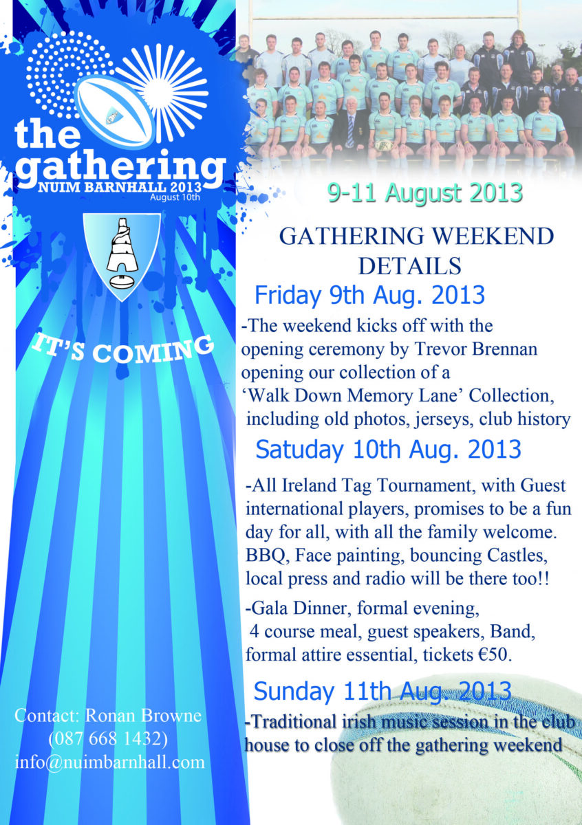 bh gathering weekend details poster a4