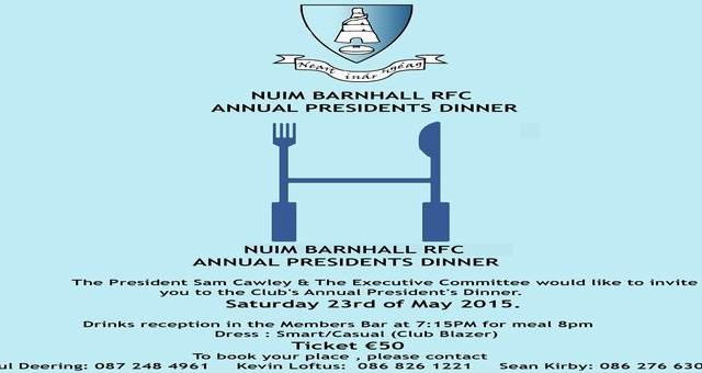 Final Poster for Presidents dinner